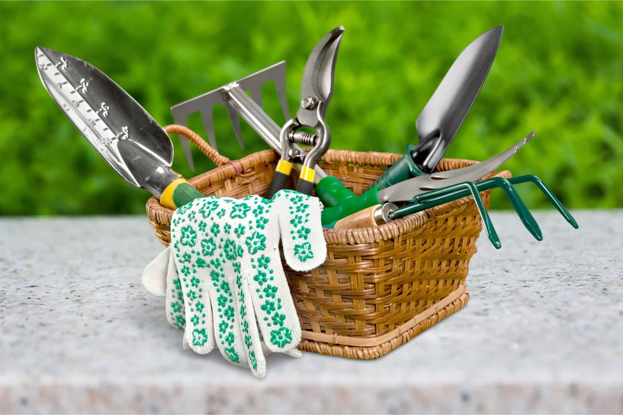 Vzdrževanje in shranjevanje vrtnih orodij