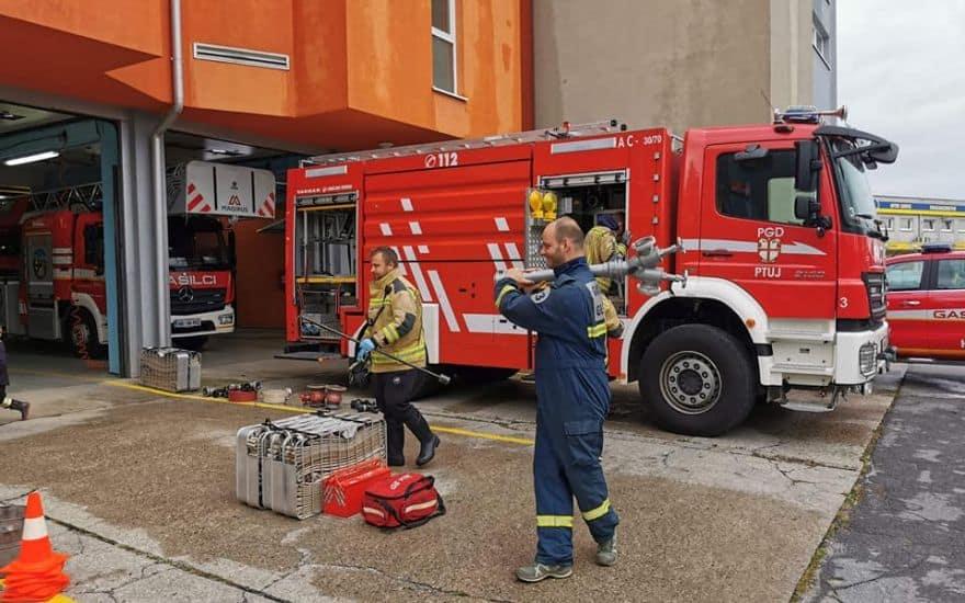 Kako ravnamo v primeru požara?